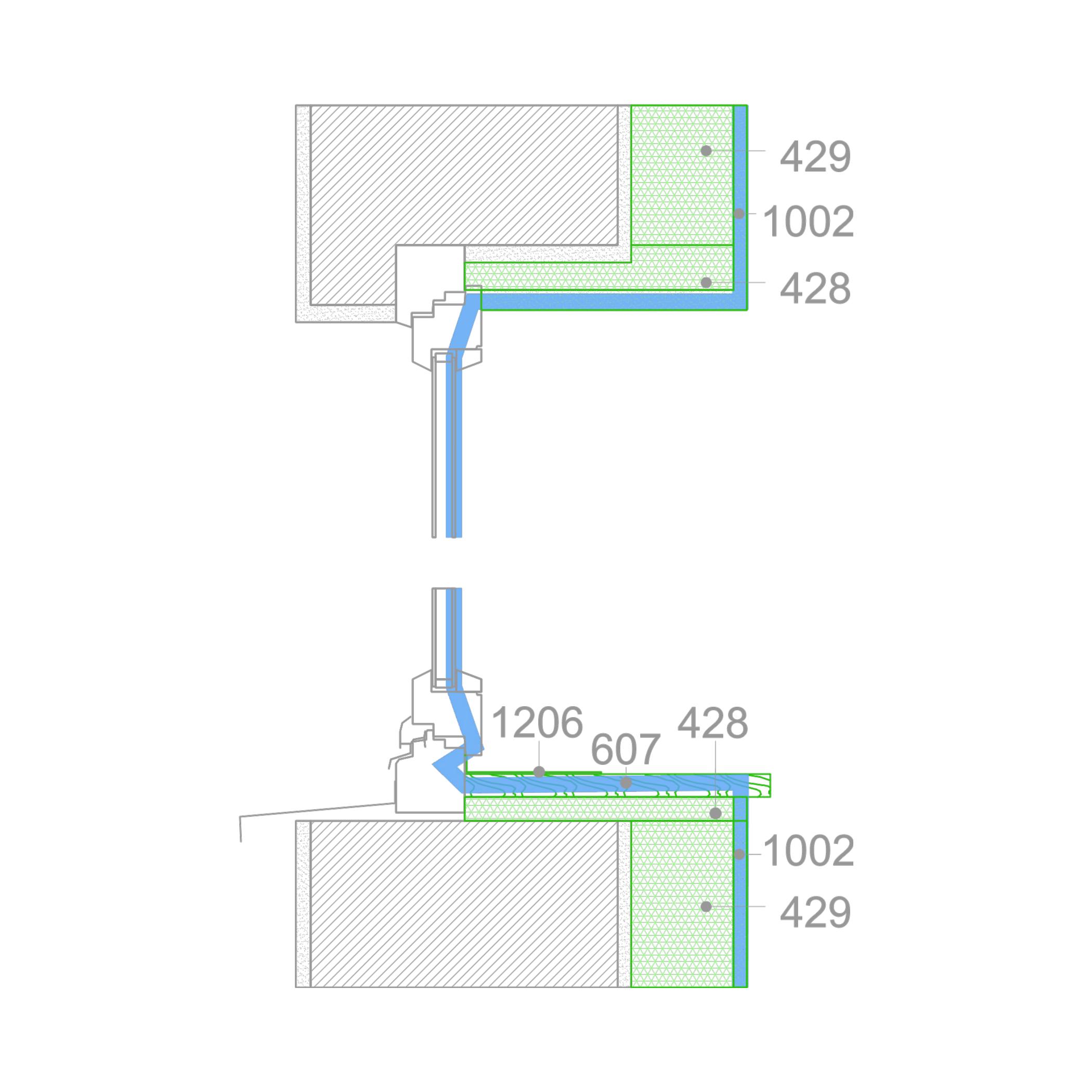 Top FENSTER DETAIL: zuerst Innendämmung dann Fensteraustausch UN59